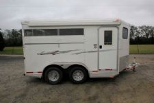 #23043 - Used 2010 Adam 2HSLBP 2 Horse Trailer  with 2' Short Wall