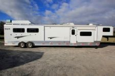#73232 - Used 2015 Shadow 8416GLQ 4 Horse Trailer  with 16' Short Wall
