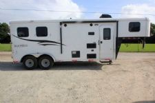 #06209 - New 2016 Bison Trail Hand 7206LQ S 2 Horse Trailer  with 6' Short Wall