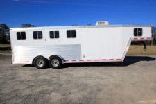 #49090 - Used 2002 Featherlite 4HSLGN 4 Horse Trailer  with 4' Short Wall