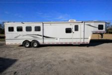 #07813 - Used 2005 Bison Stratus 8410GLQ 4 Horse Trailer  with 10' Short Wall