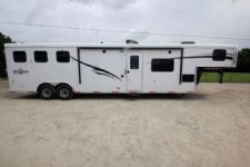 #06234 - New 2016 Bison Ranger 8314LQSD 3 Horse Trailer  with 14' Short Wall