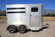 #B2812 - New 2016 Sundowner SS2HBP 2 Horse Trailer  with 2' Short Wall