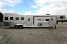 #06168 - New 2016 Bison Ranger 8410GLQBKMT 4 Horse Trailer  with 10' Short Wall