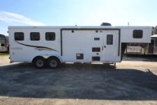 #06154 - New 2016 Bison Trail Hand 7308LQ 3 Horse Trailer  with 8' Short Wall