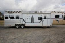#01928 - Used 1998 Cherokee 8312LQ 3 Horse Trailer  with 12' Short Wall