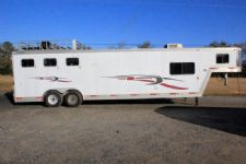 #14222 - Used 2002 Exiss 8310MTLQ 3 Horse Trailer  with 10' Short Wall