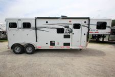 #00101 - New 2017 Lakota 7209LQ Charger 2 Horse Trailer  with 9' Short Wall