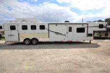 #06283 - New 2016 Bison Ranger 8414GLQRSL 4 Horse Trailer  with 14' Short Wall