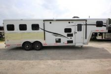 #06290 - New 2016 Bison Bison Laredo 8308LQ 3 Horse Trailer  with 8' Short Wall