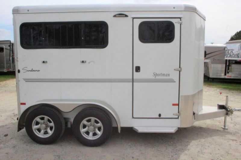 2 Horse Sundowner Horse Trailer Bumper Pull Horse Trailer