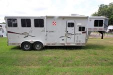 #87198 - Used 2008 Lakota 307LQ Charger 3 Horse Trailer  with 7' Short Wall