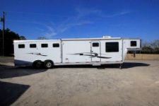 #13421 - Used 2002 Exiss 8414LQ 4 Horse Trailer  with 14' Short Wall