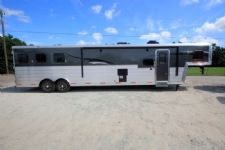 #06343 - New 2016 Bison Silverado 8316GLQ  Super Glide 3 Horse Trailer  with 16' Short Wall