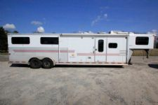 #02308 - Used 2003 Silver Star Supreme 7480GLQ 4 Horse Trailer  with 8' Short Wall