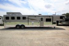 #06368 - New 2016 Bison Ranger 8414GLQSD 4 Horse Trailer  with 14' Short Wall