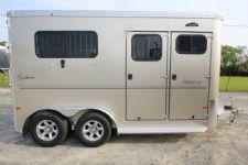 #B4154 - New 2017 Sundowner CHARTER2NBPTRSE 2 Horse Trailer  with 4' Short Wall