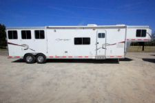 #87204 - Used 2009 Lakota Charger 8315LQ 3 Horse Trailer  with 15' Short Wall