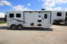 #06435 - New 2016 Bison Trail Boss 7208LQ 2 Horse Trailer  with 8' Short Wall