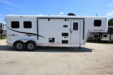 #06436 - New 2016 Bison Trail Boss 7208LQ 2 Horse Trailer  with 8' Short Wall