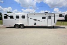 #06423 - New 2016 Bison Laredo 8412GLQ BAR 4 Horse Trailer  with 12' Short Wall