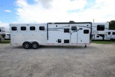 #00335 - New 2017 Lakota 7411GLQ Charger 4 Horse Trailer  with 11' Short Wall