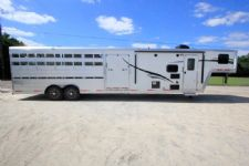 #06461 - New 2016 Bison Laredo 8008LQSTKLT Stock Trailer  with 8' Short Wall