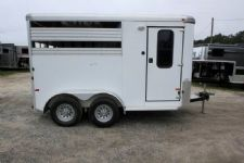 #E1829 - Used 2008 Sundowner Stampede 2 Horse Trailer  with 2' Short Wall