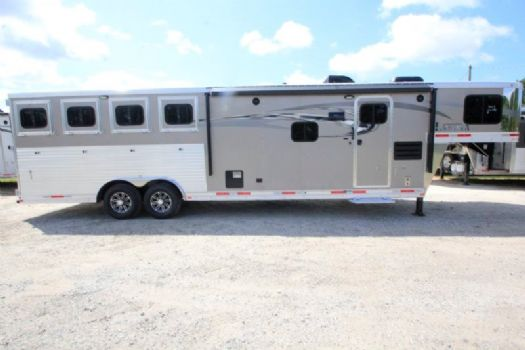 #00398 - New 2017 Lakota Charger 8411RKLQ 4 Horse Trailer  with 11' Short Wall