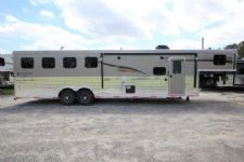 #06513 - New 2017 Bison Ranger 8411SO 4 Horse Trailer  with 11' Short Wall