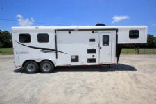 #06535 - New 2017 Bison Trail Hand 7208LQ 2 Horse Trailer  with 8' Short Wall