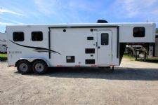 #06536 - New 2017 Bison Trail Hand 7208LQ 2 Horse Trailer  with 8' Short Wall