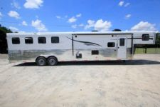 #06537 - New 2017 Bison Ranger 8415BK 4 Horse Trailer  with 14' Short Wall