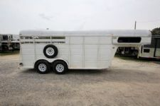 #28508 - Used 2000 Ponderosa 2HSL Trail Rider 2 Horse Trailer  with 4' Short Wall