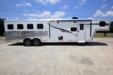 #06558 - New 2017 Bison Laredo 7410SO 4 Horse Trailer  with 10' Short Wall
