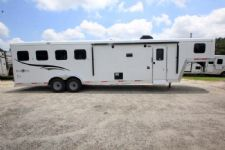 #06559 - New 2017 Bison Trail Boss 7410BD 4 Horse Trailer  with 10' Short Wall