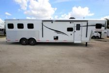 #06560 - New 2016 Bison Silverado 8311SO 3 Horse Trailer  with 11' Short Wall