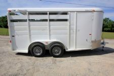 #07134 - Used 2012 CM 3HSLBP 3 Horse Trailer  with 2' Short Wall
