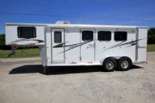 #09590 - Used 2007 Silverlite 7306LQ 3 Horse Trailer  with 6' Short Wall
