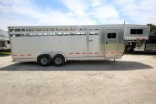 #25959 - Used 2015 Eby 24SCT Stock Trailer  with 4' Short Wall