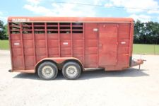 #11343 - Used 1992 Diamond D 3HSLBP 3 Horse Trailer  with 2' Short Wall