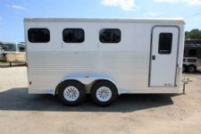 #42937 - Used 2008 Exiss ES30 3 Horse Trailer  with 2' Short Wall