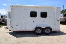#00346 - New 2016 Harmar Dixie Star 502DSBPTO 2 Horse Trailer  with 5' Short Wall