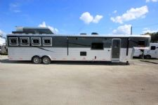 #06351 - New 2016 Bison Premiere 8418GLQ 4 Horse Trailer  with 18' Short Wall