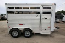 #A6967 - Used 2013 Sundowner Stockman 14' 2 Horse Trailer  with 2' Short Wall
