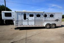 #A0652 - Used 1998 Sundowner 7406LQ Pueblo 4 Horse Trailer  with 6' Short Wall