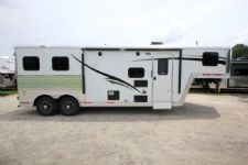 #06454 - New 2016 Bison Laredo 8280GLQ 2 Horse Trailer  with 8' Short Wall