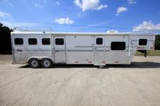 #25503 - Used 2003 Sidekick 8412LQ 4 Horse Trailer  with 12' Short Wall