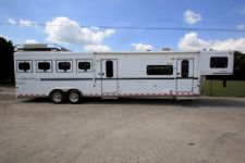 #A2572 - Used 2005 Sundowner 4HLQMT 4 Horse Trailer  with 10' Short Wall