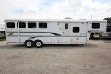 #33713 - Used 2000 Merhow 8408LQ 4 Horse Trailer  with 8' Short Wall